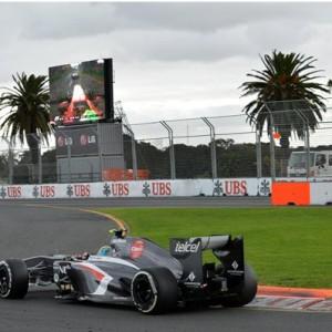 Эстебан Гуттерез (Мексика) Esteban Gutterez.Saulber.Гонка.Чемпионат Мира.Формула 1.Гран при Австралии.Альберт парк.Мельбурн.Австралия.Воскресенье 17 марта 2013 года.