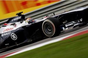 Пастор Мальдонадо (Венесуелла).Уильмс Вильямс Рено FW35.Формула 1 Мировой Чемпионат.RD2.Гран при Малйзии.Сепанг.