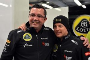 Эрик Булье и Кими Райкконен (Лотус),празднование победы на Гран-при Австралии