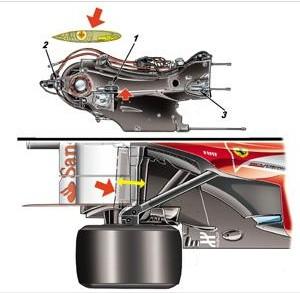 Феррари F138.Видоизменённый карданный вал.