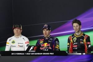 Гран-при Бахрейн,конференция после гонки,Феттель,Райкконен,Грожан