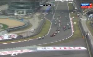 Гран-при Китай 2013,старт,первй поворот