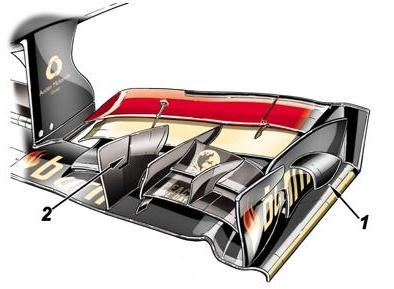Лотус,новые детали переднего сполера на Гран-при Испании