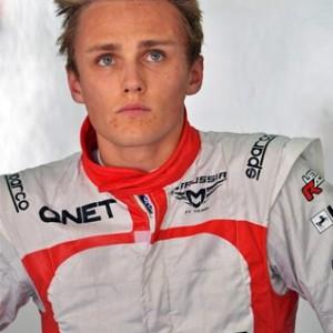 Макс Чилтон,на Гран-при Малайзии сезона 2013 года.