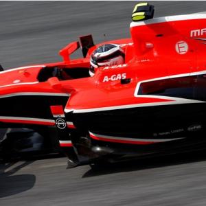 Макс Чилтон.Маруся.MR02.Квалификация.Гран при Малайзии 2013.