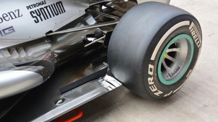 Мерседес, изменения материала переборки на задней оси на Гран-при Индии 2013