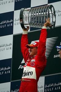 Михаэль Шумахер,первый победитель Гран-при Бахрейн,2004