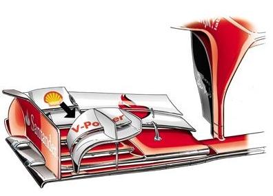 Новое переднее крыло на Феррари Ф138 перед Гран-при Канады