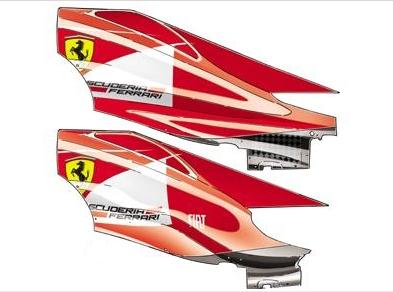 Новый обтекатель для двигателя Феррари,Гран-при Испании