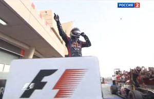 Победитель Гран-при Бахрейн Себастьян Феттель (Ред Булл)