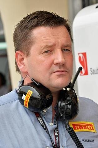 Пол Хембри управляющий Пирелли Мотоспорт, официальный поставщик шин для гонок Формула 1