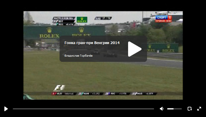 Смотреть Гонку Гран-при Венгрии 2014. Хунгароринг