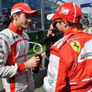Жюль Бянки (Маруся) и Филипе Масса (Феррари).Гран-при Австралии 2013