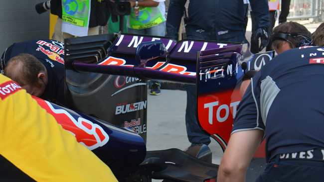 Заднее крыло Ред Булл на Гран-при Кореи