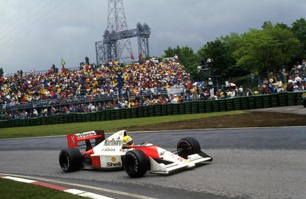 Айртон Сенна на Макларен-Хонда Mp4-B5 победитель Гран-при Канады 1990