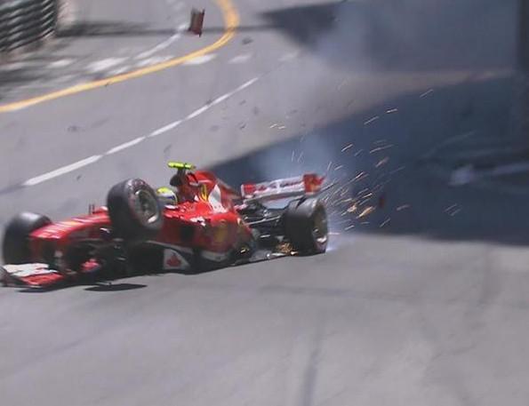 Авария Филиппе Масса на 30-м круге Гран-при Монако 2013