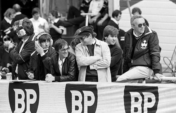 Берни Экклстоун (Бребем) и Ники Лауда (Бребем) Гран-при великобритании 1980