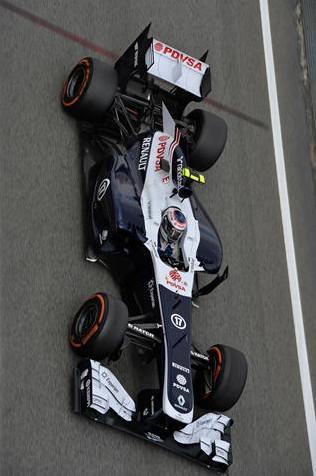 Болид Валттери Боттас (Финляндия) Уильямс практика перед Гран-при Испания