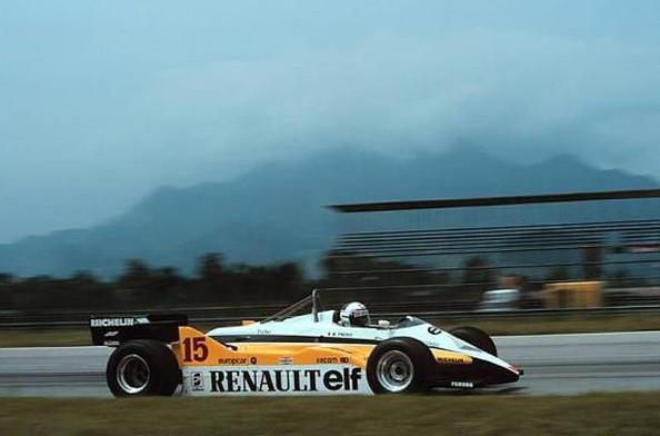 Ален Прост, на болиде Рено RЕ30В, Гран-при Бразилии 1982