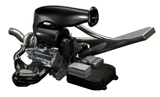 Двигатель Рено Energy 2014 - F1 вид сбоку
