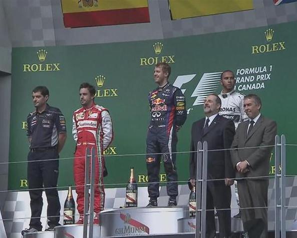 Подиум Гран-при Канады