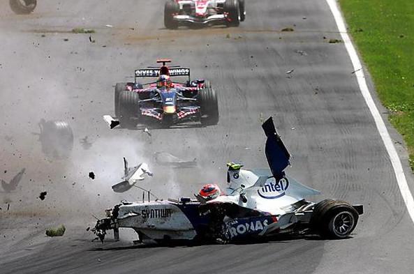 Роберт Кубица (Залбер-БМВ). авария на Гран-при Канады