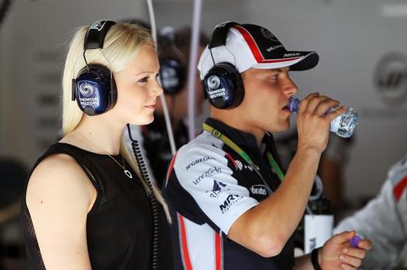 Вальттери Боттас (тест-пилот Уильямс) и его подруга Эмилия Пиккорайненен, Гран-при Италии,Монца