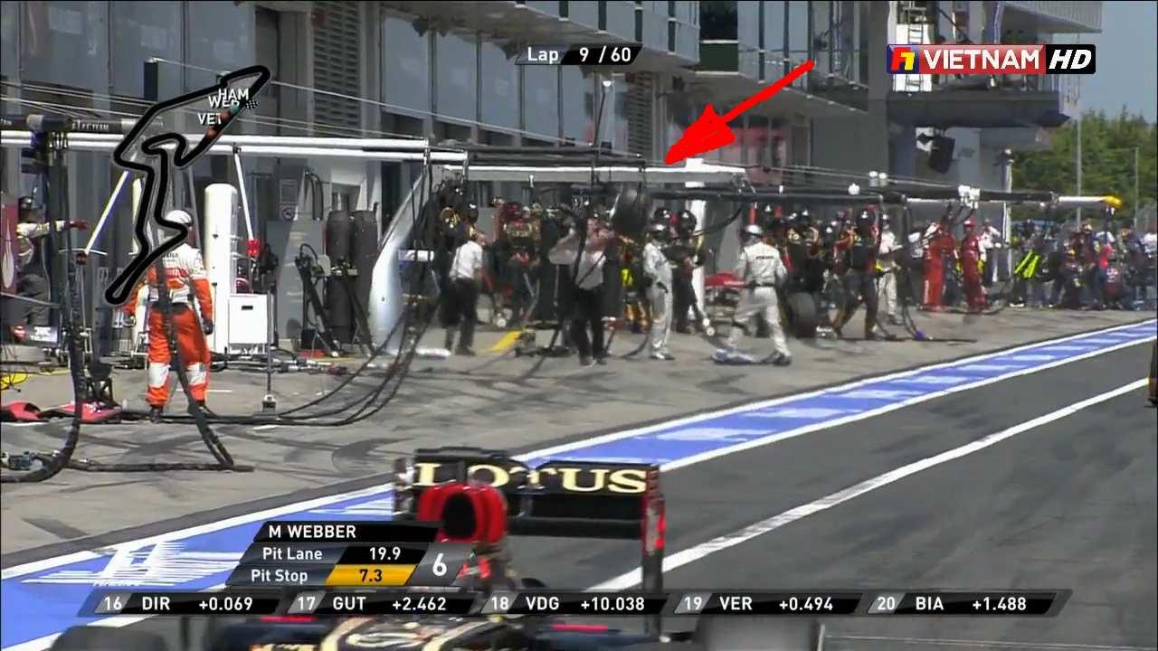 Колесо сбивает оператора на Гран-при Германии