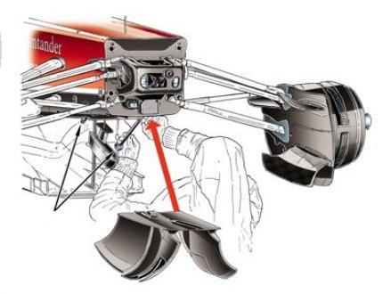 Перенос тяги передней подвески в Феррари