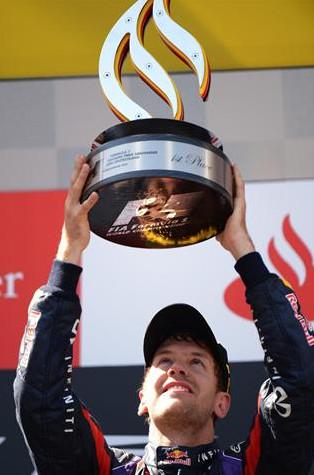 Себастьян Феттель, на подиуме на Гран-при Германии