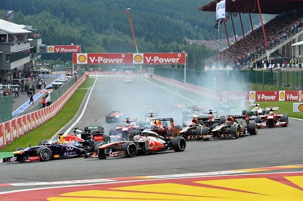 Старт Гран-при Бельгии 2013