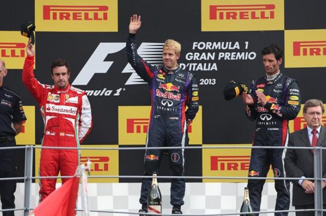 Подиум Гран-при Италии 2013