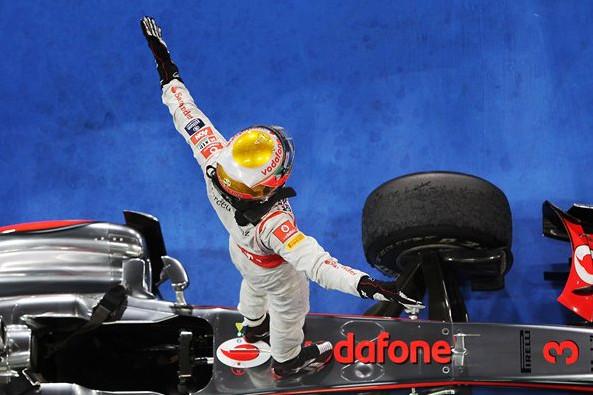 Льюис Хэмильтон (Макларен), победитель Гран-при Абу-даби 2011 года