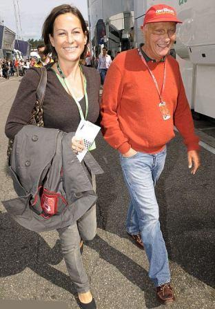 Ники Лауда и его жена Биргит