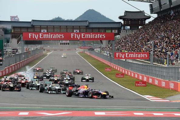 Старт гонки в Корее 2013