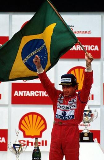 Айртон Сенна, победитель Гран-при Бразилии