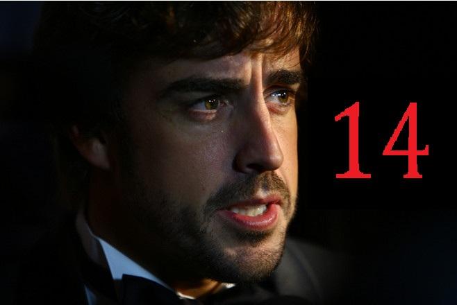 Алонсо выбрал себе номер 14, для сезона следующего года