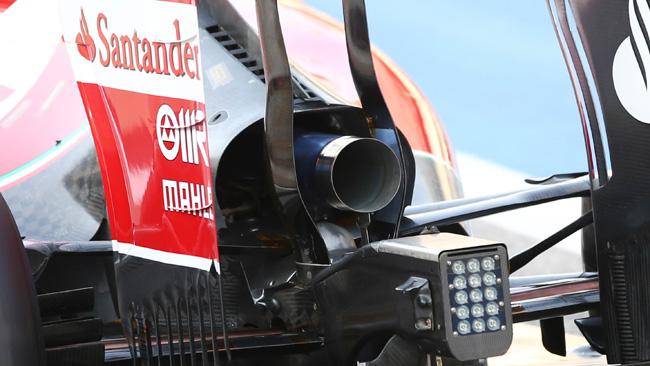Феррари F14Т новая конфигурация выхлопа