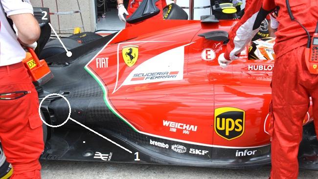 Феррари F14Т, обновления капота на гран-при Канады