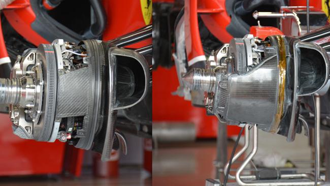 Феррари F14Т разные тормоза у Кими и Алонсо, на гран-при Великобритании