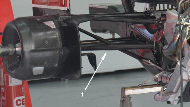 Феррари, изменения в передней подвеске, Гран-при Малайзии