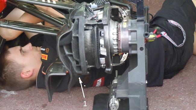 Лотус E22, работа с тормозными системами