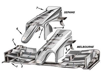 Макларен, новое переднее крыло на гран-при Малайзии