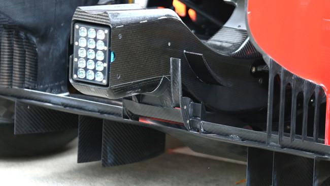 Торо Россо STR9, дополнительные элементы на стоп-фонарь.
