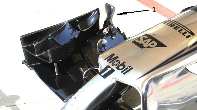 Макларен MP4-29 переднее крыло на гран-при Бахрэйн