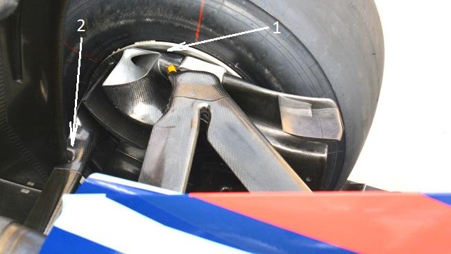 Ред Булл RB10 воздухозаборники на задних колёсах