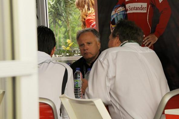 Джин Хаас, в гостях у команды Феррари