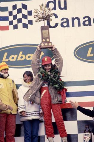 Жиль Вильнёв на подиуме Гран-при Канады 1978