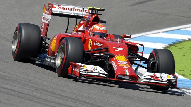 Феррари F14Т двойная опора заднего крыла,Германия 2014