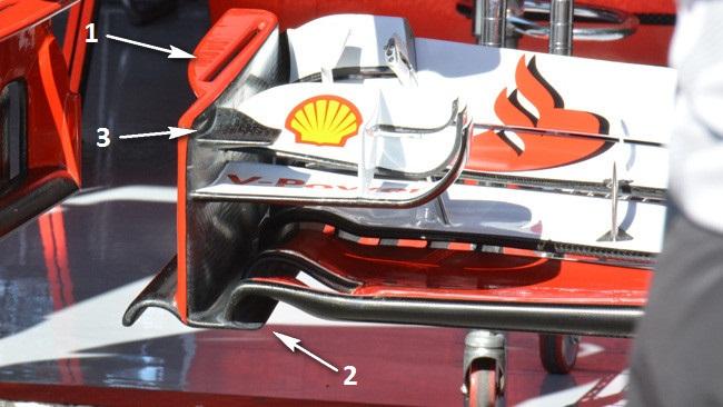 Феррари F14Т изменения в переднем крыле, Германия 2014